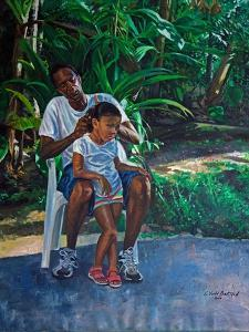 Grandfather And Child, 2010 by Colin Bootman