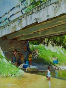 Under the Old Bridge by Colin Bootman