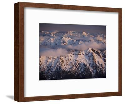 Aerial Landscape, Olympic Mountains, Olympic National Park, Washington State, USA