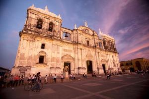 Basilica Catedral De La Asuncion, Leon, Nicaragua, Central America by Colin Brynn