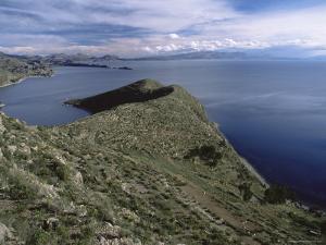 Landscape, Isla Del Sol, Lago Titicaca (Lake Titicaca), Bolivia, South America by Colin Brynn