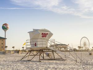 A Lifeguard Station in the Early Morning on Pensacola Beach, Florida. by Colin D Young