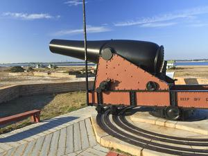 Fifteen Pound Cannon Aims over the Walls of Fort Pickens near Pensacola Bay, Florida by Colin D Young