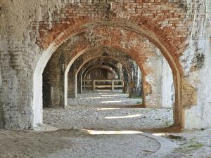 Weathered Brick Arches in a Bastion of Civil War Era Fort Pickens in the Gulf Islands National Seas by Colin D Young