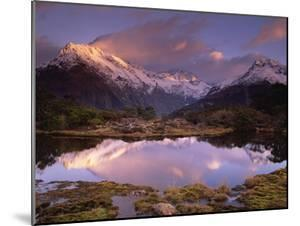 Key Summit and Reflection, Routeburn Track, World Heritage Site, Fiordland Nat'l Park, New Zealand by Colin Monteath/Minden Pictures