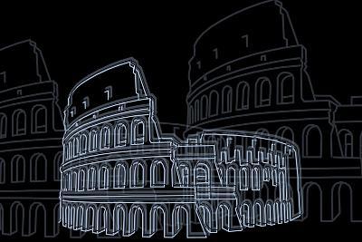 Coliseum Night-Cristian Mielu-Art Print