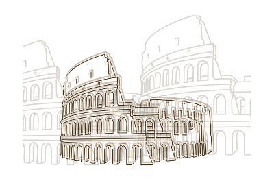 Coliseum-Cristian Mielu-Art Print