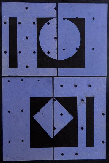 Collage, Blue Mercato, 2004-George Dannatt-Giclee Print