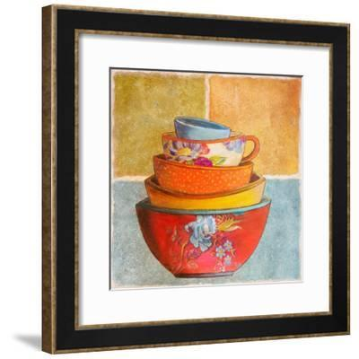 Collage Bowls I-Patricia Pinto-Framed Premium Giclee Print