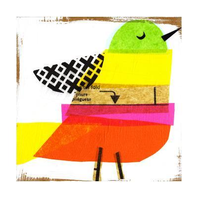 Collage of Colorful Bird--Art Print