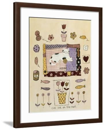 Collage of Flowers, Fish, Mice and Yarn- Hope Street Designs-Framed Giclee Print