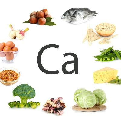 Collage Of Products Containing Calcium-Yastremska-Art Print
