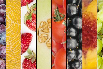 Collage of Seasonal Summer Fruits-YellowPaul-Photographic Print