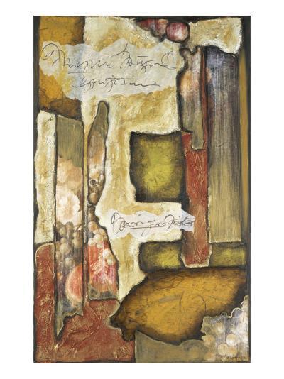 Collage on Art Paper with Gold Leaf III-Jennifer Goldberger-Art Print