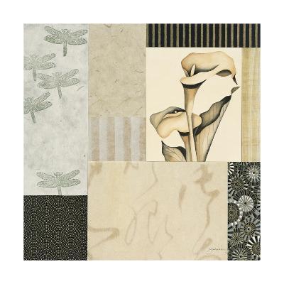 Collage with Calla Lillies #3-Julieann Johnson-Premium Giclee Print