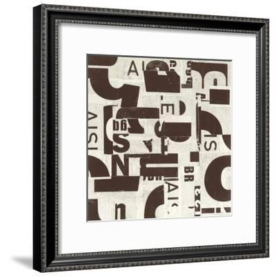 Collaged Letters Cocoa C-JB Hall-Framed Premium Giclee Print