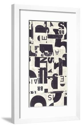 Collaged Letters Purple E-JB Hall-Framed Premium Giclee Print