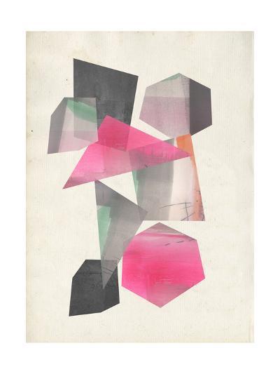 Collaged Shapes I-Jennifer Goldberger-Premium Giclee Print