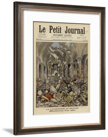 Collapse of a Church Roof, Brousse, France, 1897--Framed Giclee Print