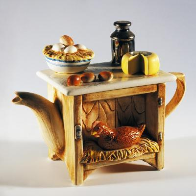 Collectible Teapot, Ceramic, Italy--Giclee Print