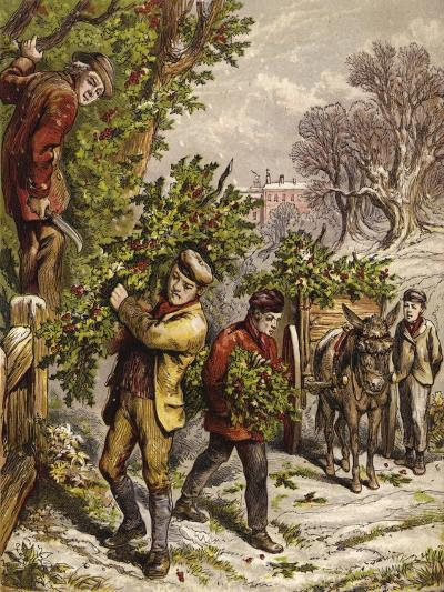 Collecting Holly--Giclee Print