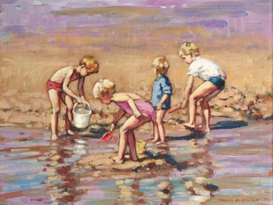 Collecting Shells-Paul Gribble-Giclee Print
