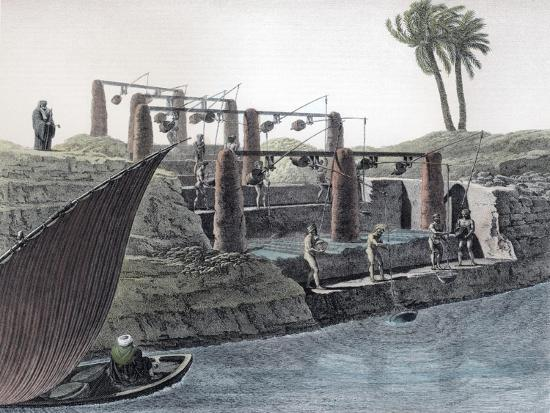 Collecting water from the Nile, Egypt, c1798-Unknown-Giclee Print