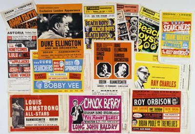 Collection of 1960's Odeon Concert Hall Bills, Including the Beach Boys, Duke Ellington, Ella…