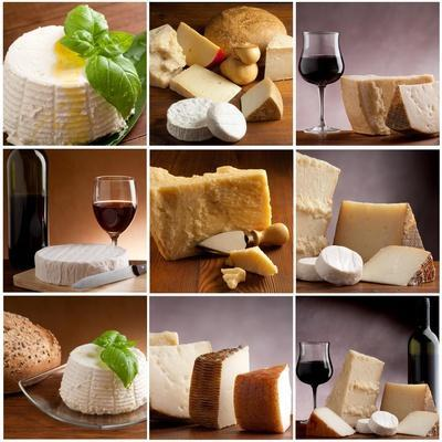 Collection Of Italian Cheese And Wine-Marco Mayer-Art Print