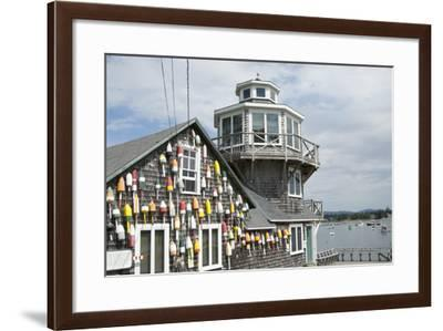 Collection of Lobster Buoys, Maine, USA-Rick Daley-Framed Photographic Print