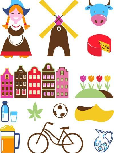 Collection Of Netherlands Icons-Marish-Art Print