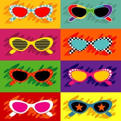 Collection Of Pop Art Sunglasses Art Print By Ultrapop