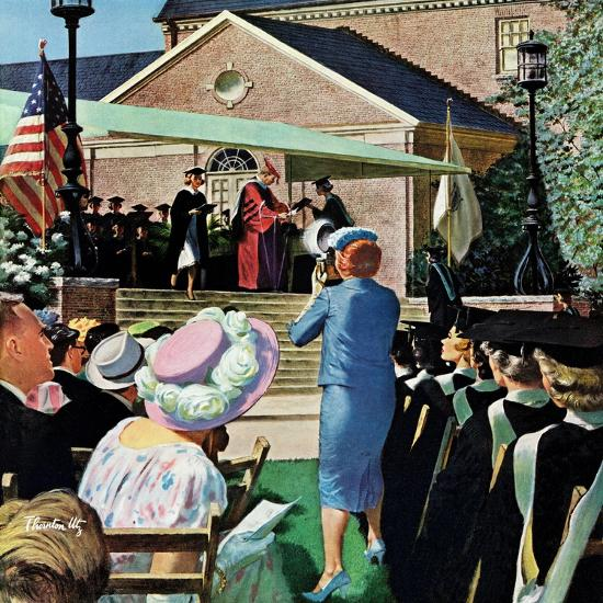 """College Graduation,"" June 4, 1960-Thornton Utz-Giclee Print"