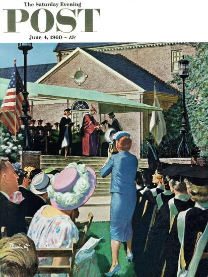 """College Graduation,"" Saturday Evening Post Cover, June 4, 1960-Thornton Utz-Giclee Print"