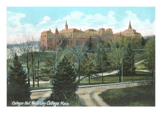 College Hall, Wellesley College, Mass.--Art Print