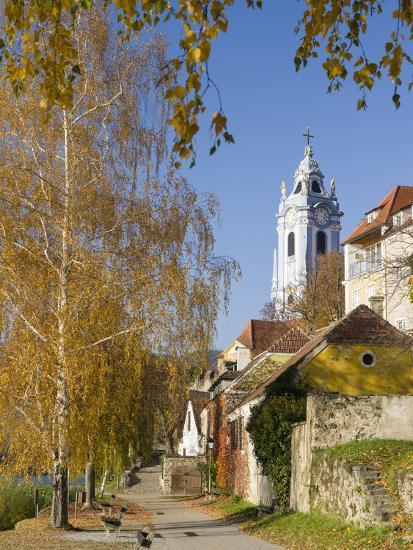 Collegiate Church in Durnstein, an Icon of the Wachau Area. Austria-Martin Zwick-Photographic Print