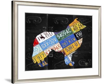 Collie-Design Turnpike-Framed Giclee Print