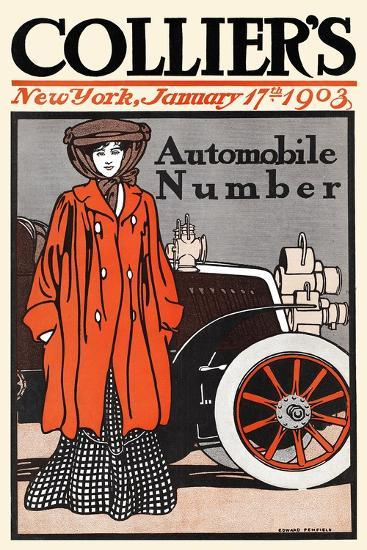 Collier's Automobile Number, New York, January 17th, 1903-Edward Penfield-Art Print