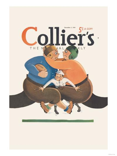 Collier's National Weekly, Referee in the Middle--Art Print