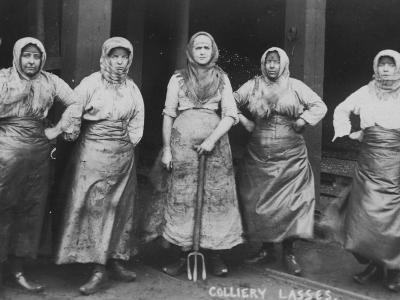 Colliery Lasses' of Wigan--Photographic Print