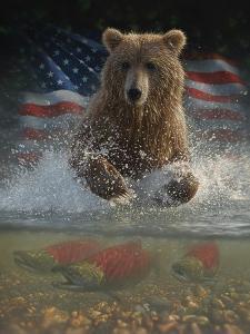Brown Bear Fishing America by Collin Bogle