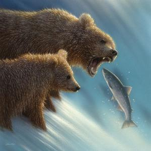 Brown Bears - Fishing Lesson by Collin Bogle