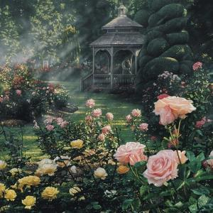 Rose Garden - Paradise Found - Square by Collin Bogle