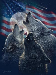 Wolf Trinity Patriotic by Collin Bogle