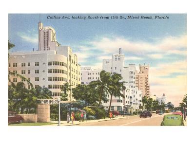 Collins Avenue, Miami Beach, Florida--Art Print
