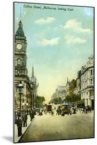 Collins Street, Looking East, Melbourne, Victoria, Australia, C1900s