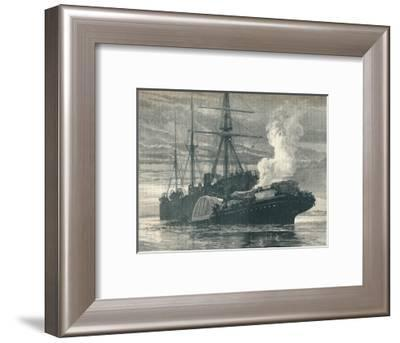 Collision of the 'Bywell Castle' with the 'Princess Alice', 1878 (1906)-J Nash-Framed Giclee Print