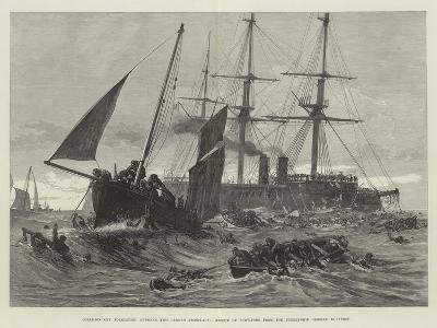 Collision Off Folkestone Between Two German Ironclads--Giclee Print