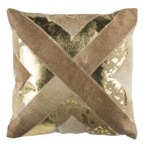 """Colma Metallic Cowhide 20""""X20"""" Pillow"""
