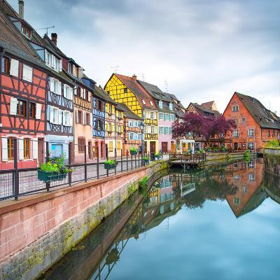 Colmar, Petit Venice, Water Canal and Traditional Houses. Alsace, France.-stevanzz-Photographic Print